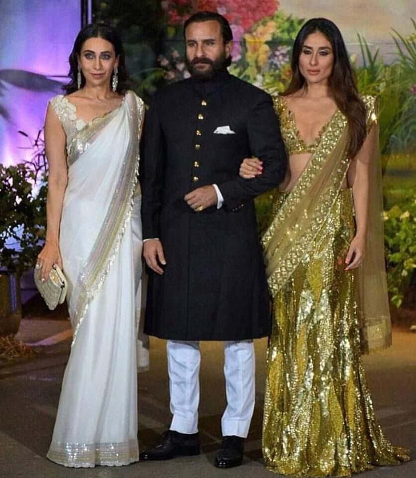Karishma Kapoor Saif Ali Khan And Kareena Kapoor Khan Sonamkishaadi Everydayphenomenal Shaadi Indian Wedding Outfits Bollywood Fashion Sonam Kapoor Wedding