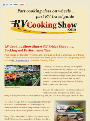 Rv Cooking Show S Inside My Rv Fridge Tour With Images Cooking Show Fridge Shopping Fridge