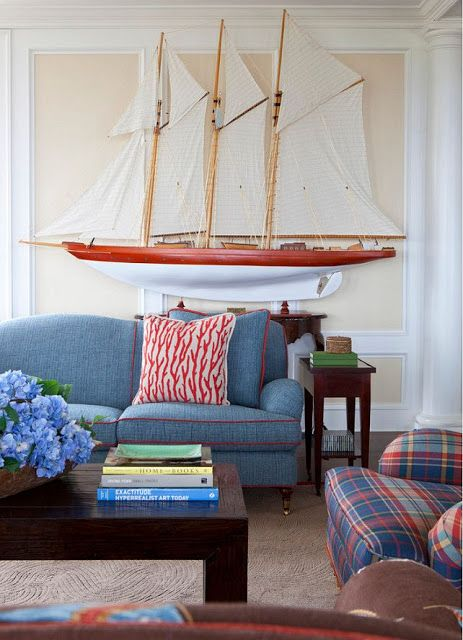 Wonderful Sailboat Model Hanging On The Wall Great Ideas