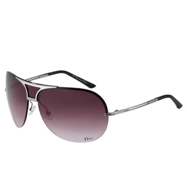 ffdecbdc3d63 DIOR REMOVE Ladies Womens Aviator REMOVE Jewel Sunglasses SILVER BROWN  MIRROR  DIOR
