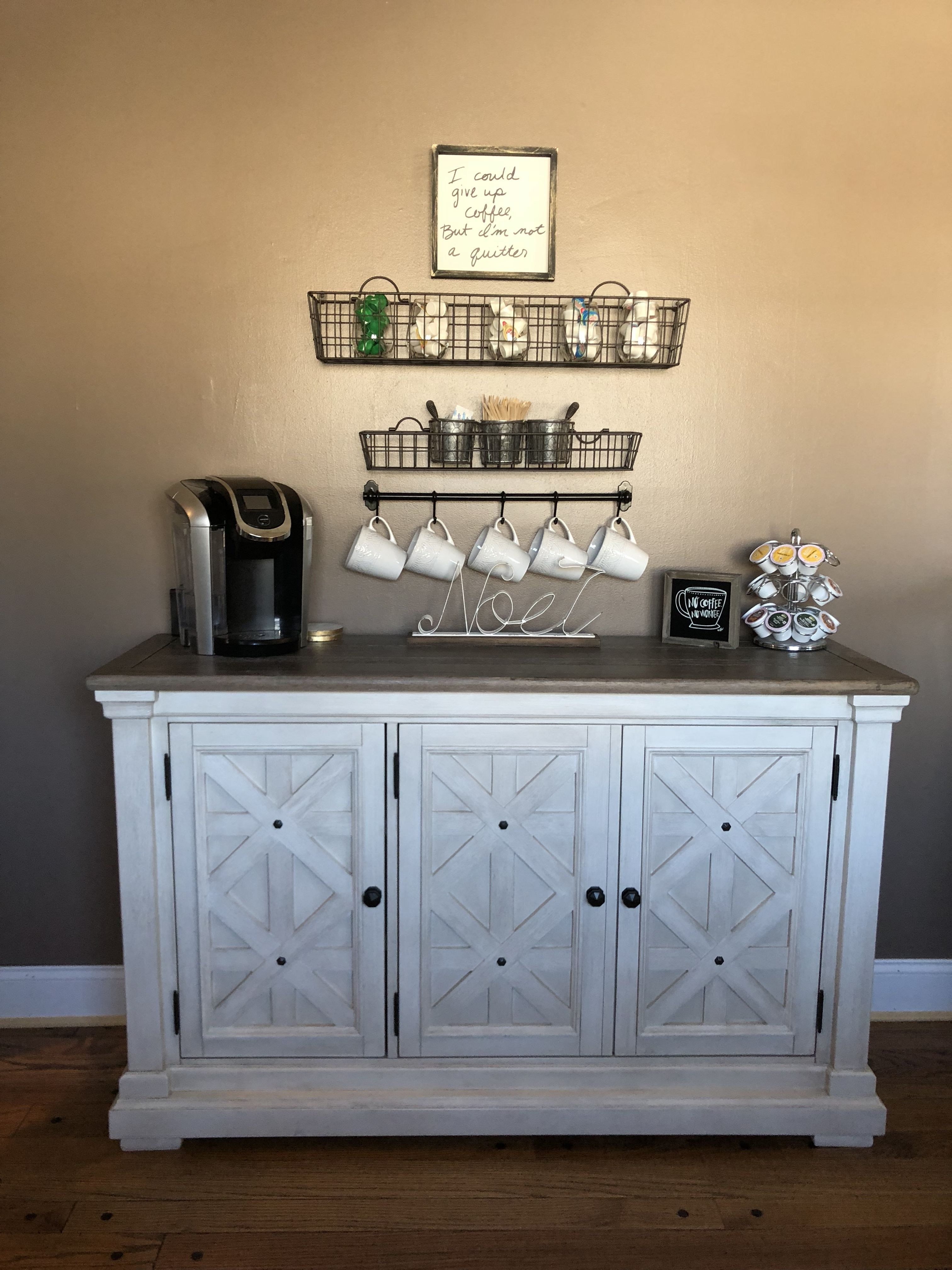 Coffee Bar And Farmhouse Home Inspiration Rustic Chic Rustic Glam Coffee Bar Home Rustic Dining Room Home Office Furniture