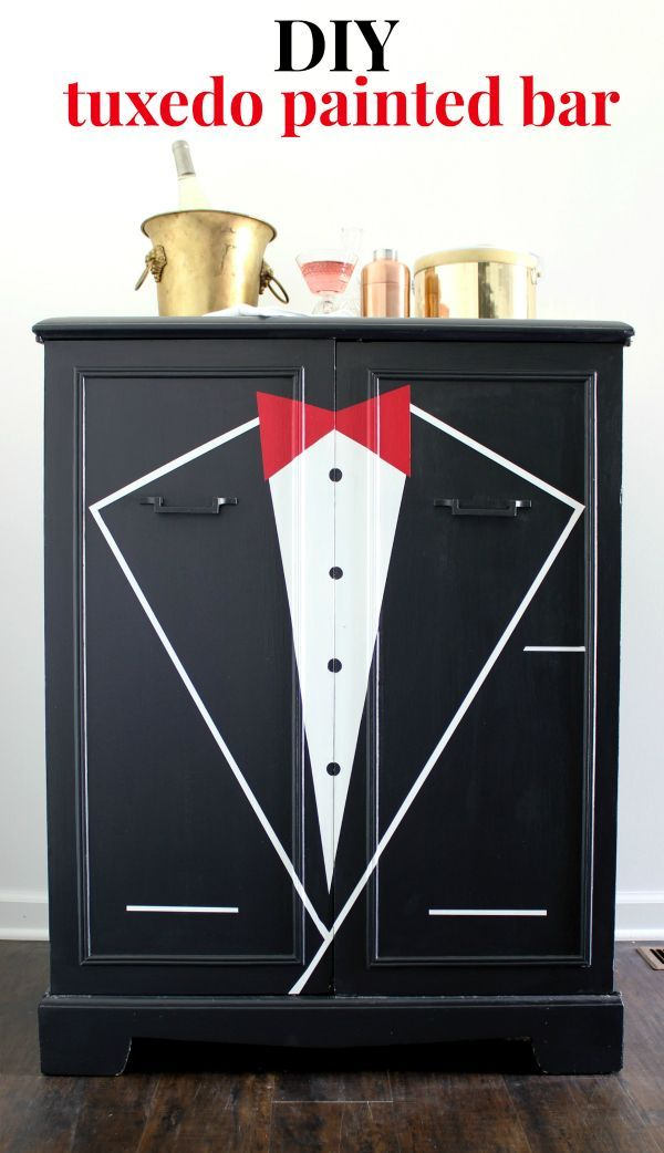 diy tuxedo bar furniture makeover furniture painting techniques
