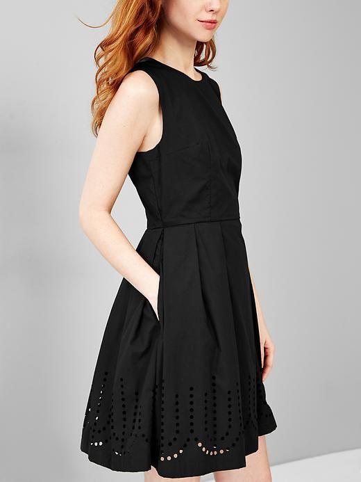 71a1fc8c64 Laser-cut fit   flare dress Product Image