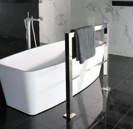 A Custom Floor Mounted Towel Warmer