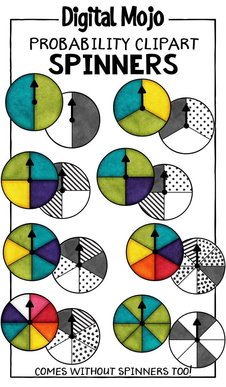 worksheet Probability Spinner spinners clipart probability tyxgb76ajthis 8 and clipart
