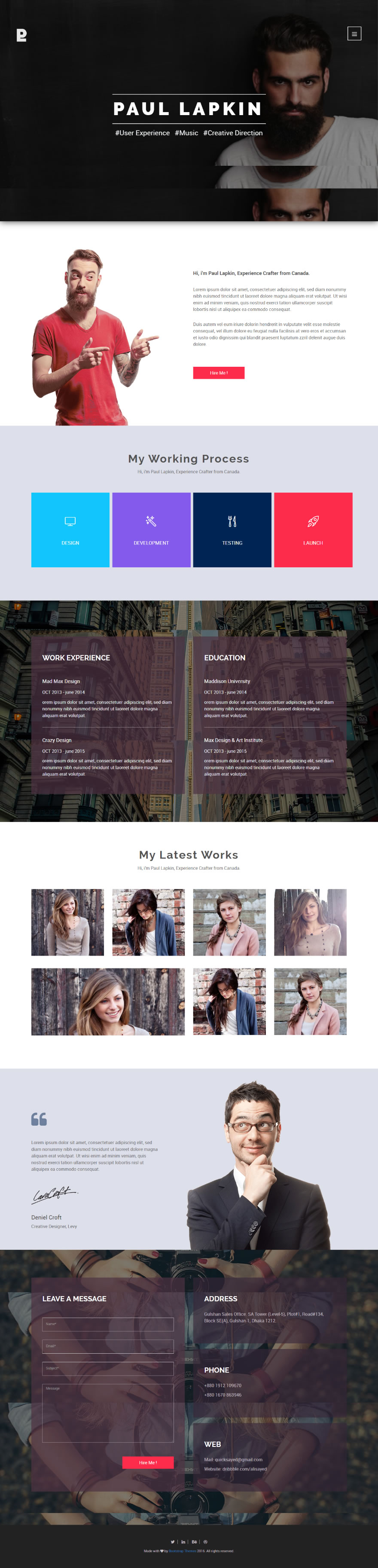 We have created Free Html Template Website. You can ...