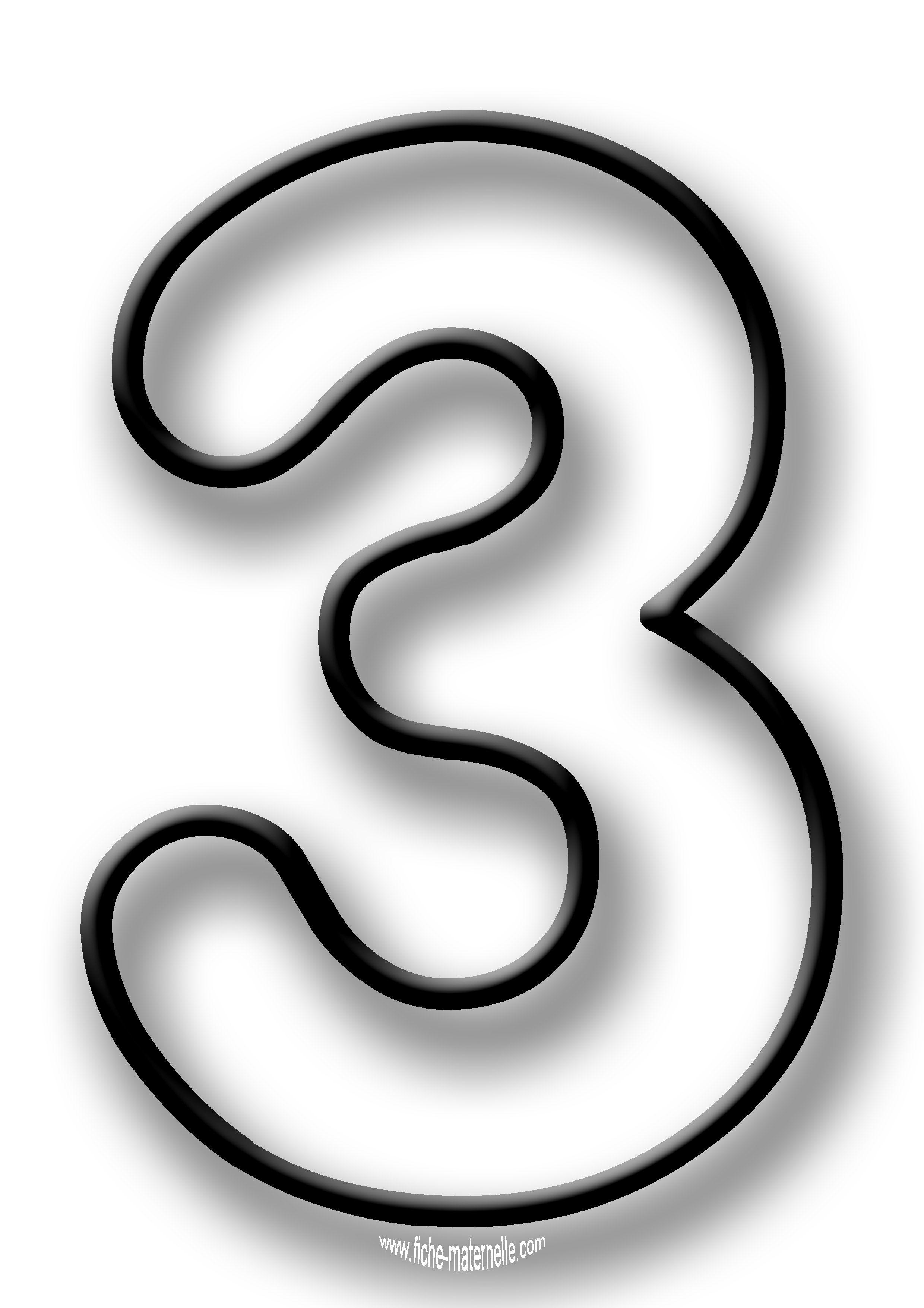 Coloriage des chiffres lettres d coratives pinterest for Le chiffre 13