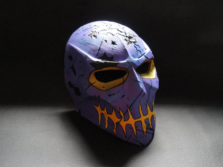 Amazon.com : ColdBloodArt #4 Damage airsoft paintball mask - Scary ...