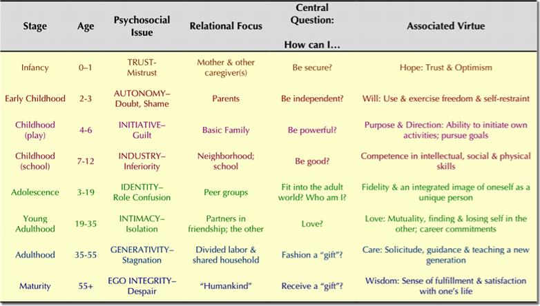 Psychosocial Development Stage Of Erikson Erickson Essay On Human Psychology