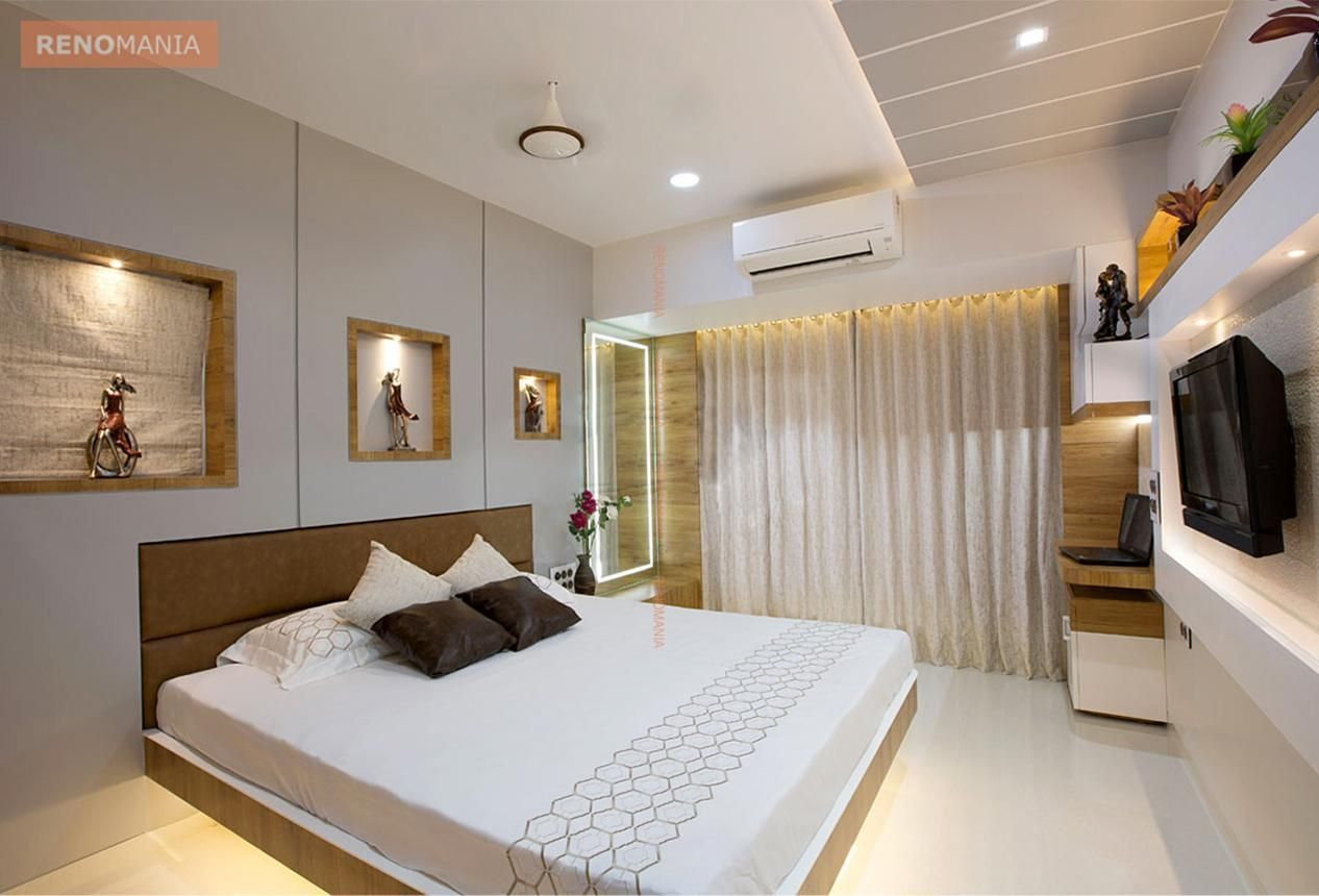 3 00 000 Indian Home Design Ideas And Images By Renomania Ceiling Design Bedroom Simple Bedroom Design Bedroom Design