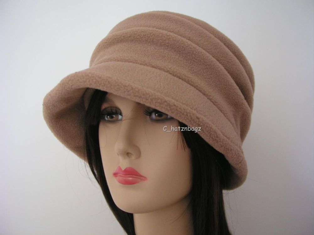 631a30542bb New Scala Hat Ladies Camel Cloche Winter Fleece Cap LW608-C