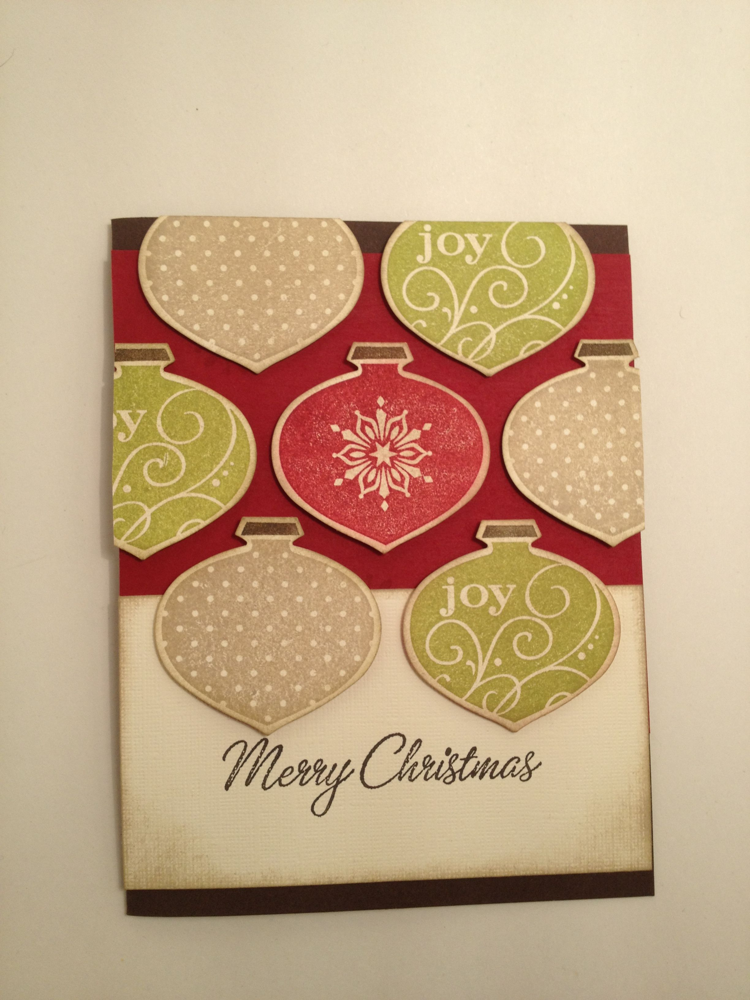 Christmas Ornament card- CASE'd the idea but made it my own.