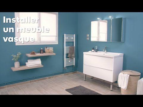 Comment poser un meuble vasque dans une salle de bains ? Castorama - comment poser un evier de cuisine