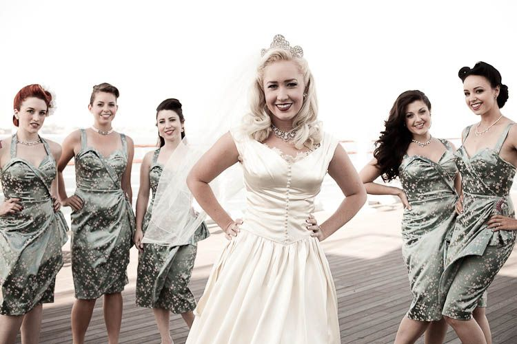 Pinup Brides Who Nailed Their Wedding Day | Sailor wedding, Wedding ...