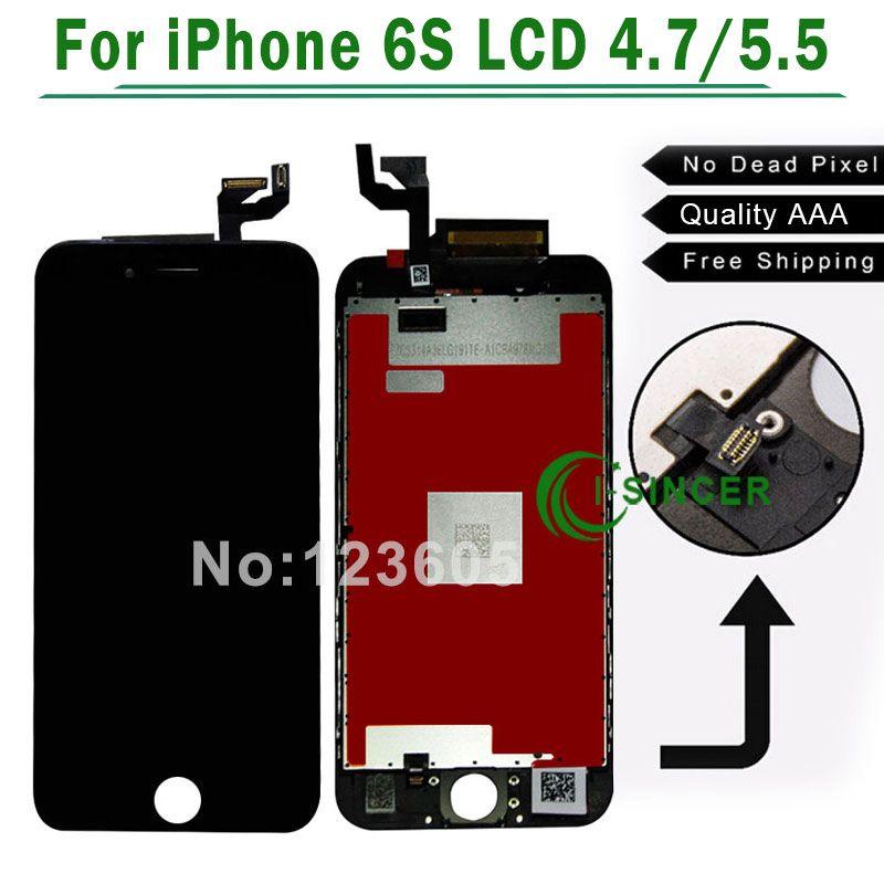 Pour iphone 6s 6 S Plus LCD 4.7 ''5. 5 ''Écran + Tactile Digitizer Remplacement Assemblée Blanc, Noir livraison gratuite