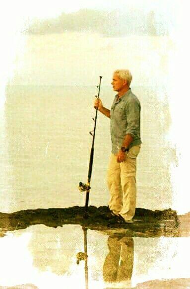 Jeremy Wade, der letzte große Angler hält die Stellung, dieses Foto wurde von mir gemacht und gepostet, photocredit: Martina Freijeh und Icon Film  Bristol