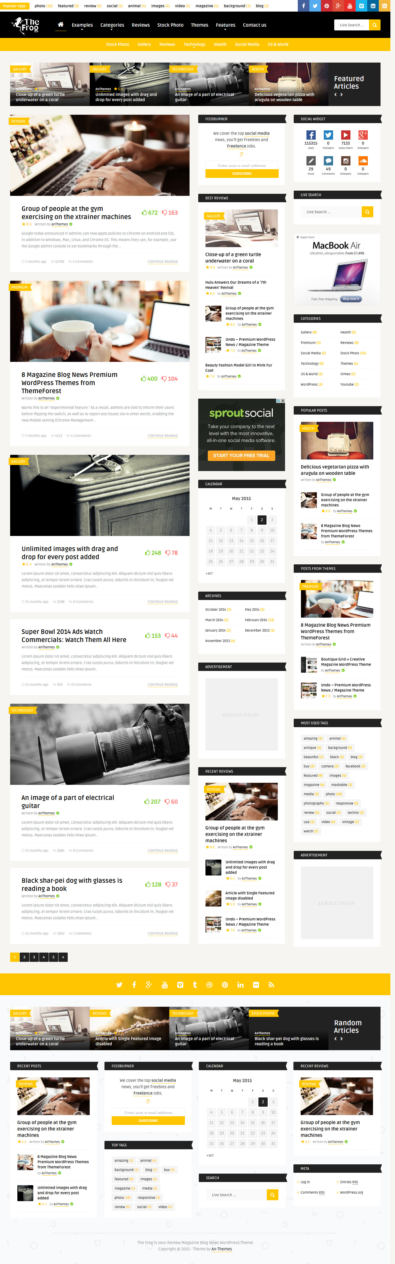The Frog = Creative News/Blog Magazine WordPress Theme #blogtheme ...