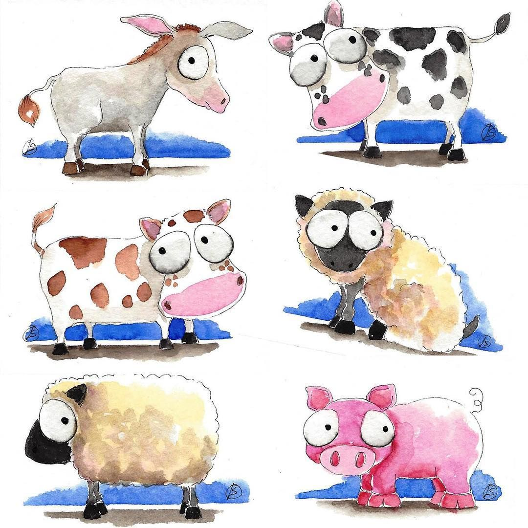 Aceo Farm Animal Prints In Mats Buy 1 Get 1 Free While Stocks Last Available On Ebay Aceo Art Prints Animalprints Farm Animals Instagram Posts Prints