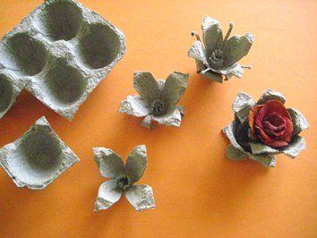 Flores Com Caixa De Ovo Jpg 354 266 Caixas De Ovos