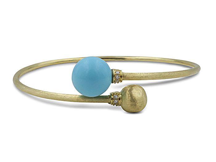 Marco Bicego 18k Africa Turquoise Bracelet e9NyM