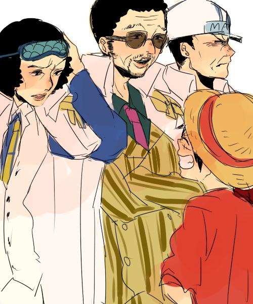 Luffy Admiral   วันพีซ, อะนิเมะ
