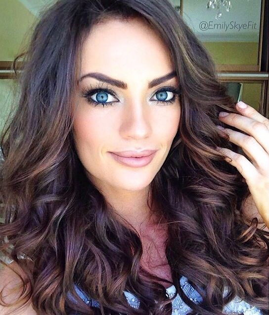 Brunettes Highlights And Waves Awesome Hair Style Pinterest