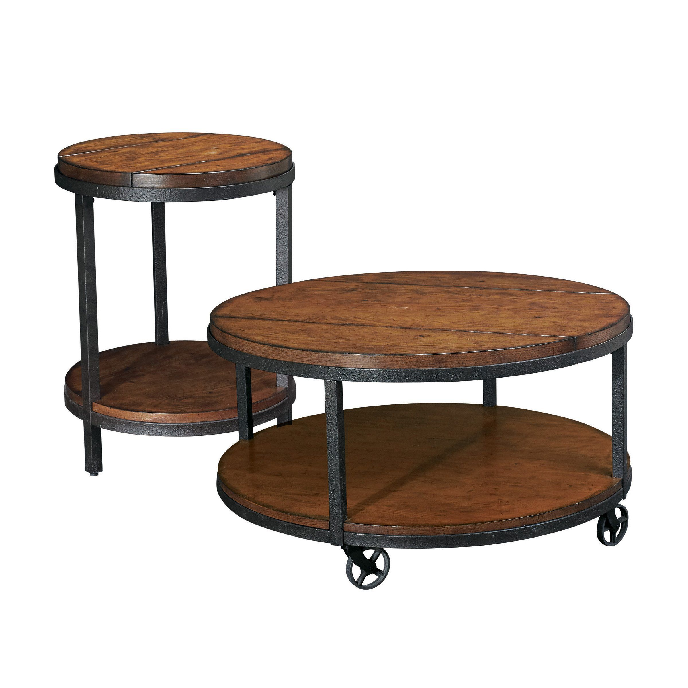 Have to have it. Hammary Baja 2-Piece Round Coffee Table Set $619.99 | Round coffee table sets ...