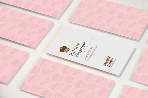 Sweet table on behance business card dessert pinterest behance sweet table business card reheart Image collections