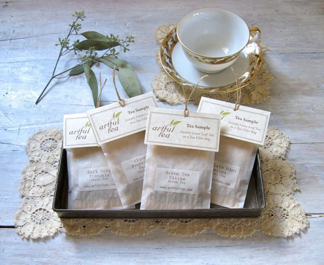 Tea Samples 10 Individual Bags Loose Leaf In A Filter Bag Favorswedding