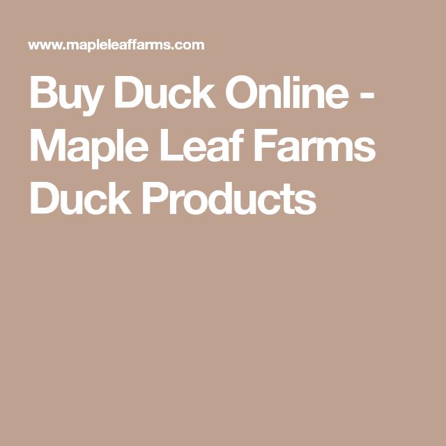 Buy Duck Online Maple Leaf Farms Duck Products Pekin