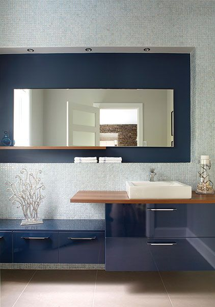 Salle d\u0027eau Petits coins coquets Room decor and Room - salle de bain en bleu