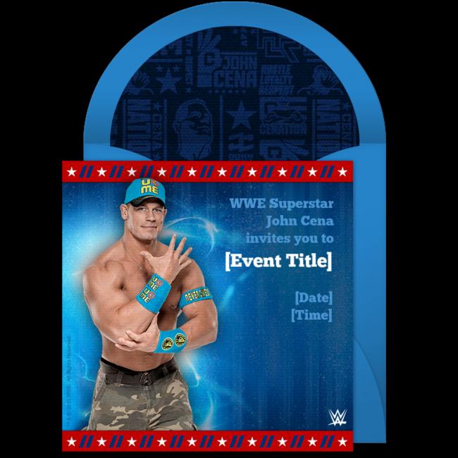 Free Wwe John Cena Birthday Invitations