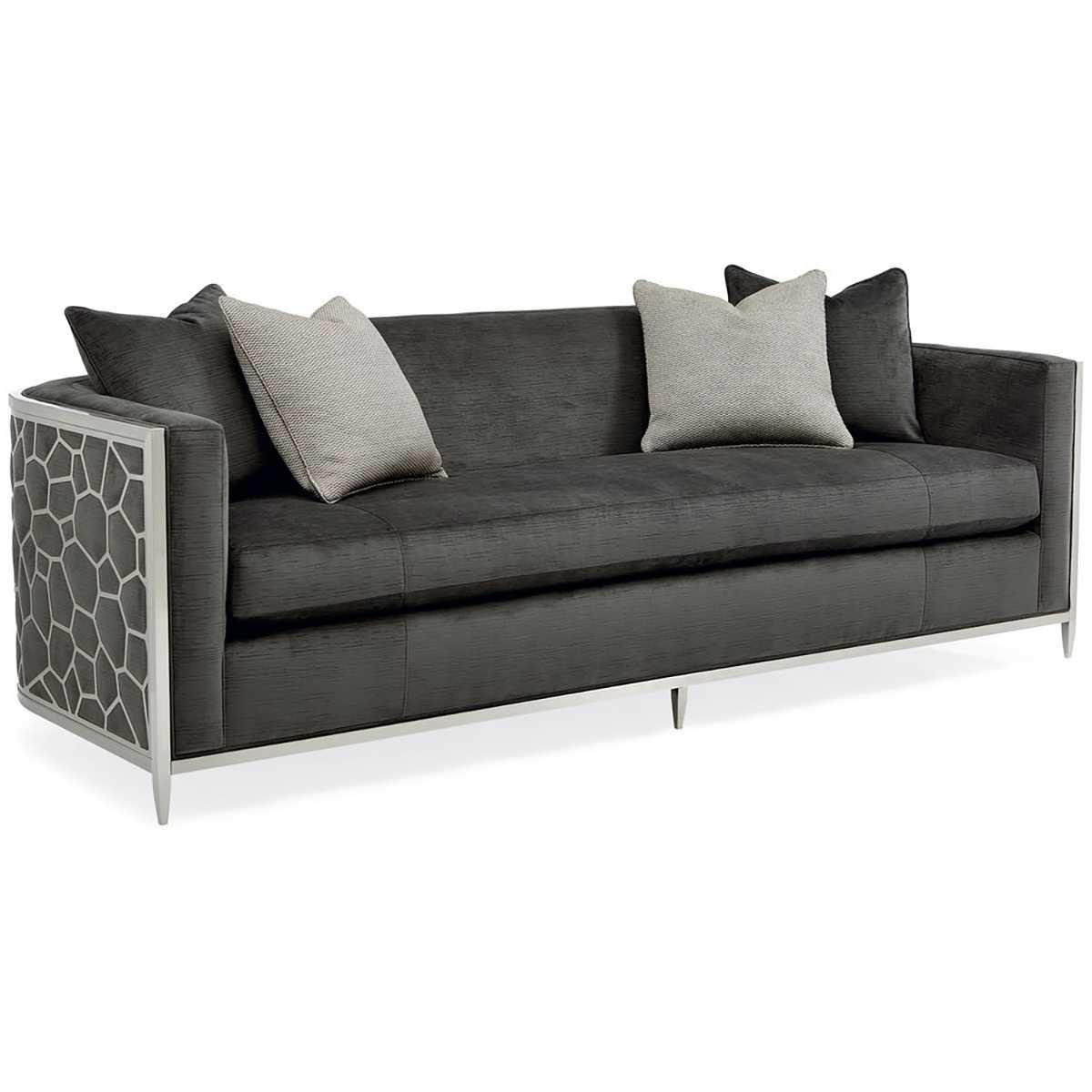 Caracole Ice Breaker Sofa Candelabra Inc Cushions On Sofa Sofa Furniture