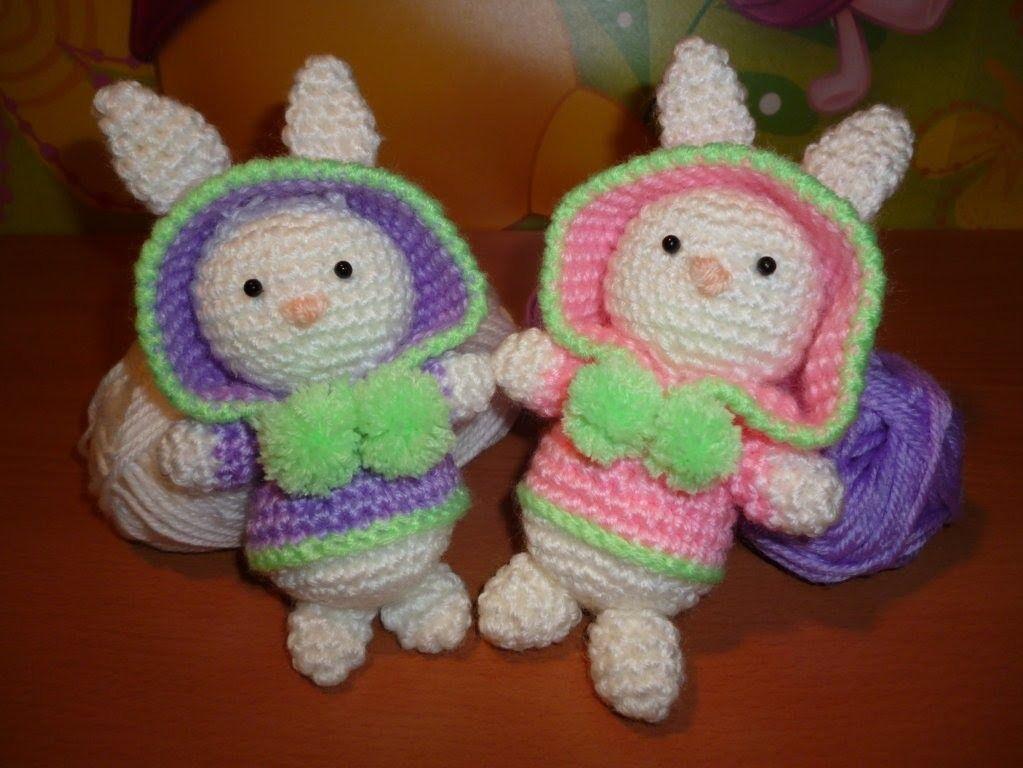 Amigurumi Rabbit Tutorial : Tutorial coniglietto uncinetto amigurumi rabbit bunny crochet