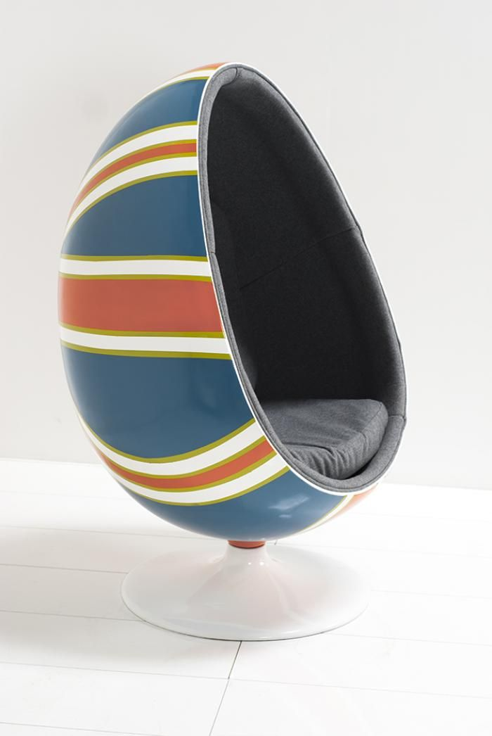 Marvelous Hand Painted Union Jack Pod Chair By ModShop