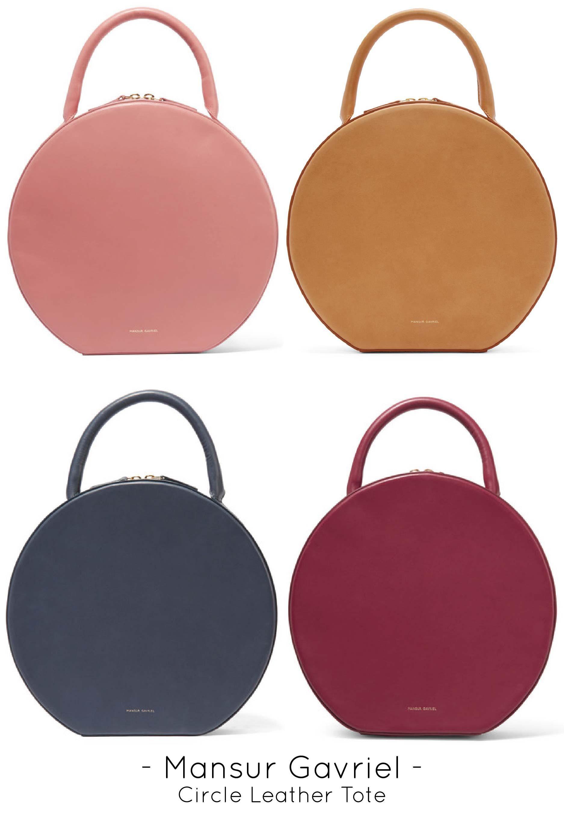 Mansur Gavriel Circle Leather Tote Bag Designer Handbags