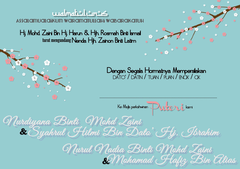 Wedding Card Design For Malay Wedding Page 2 Nadiasuchendesigns