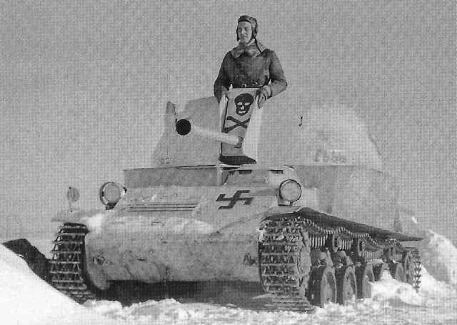 Swedish-built SPAAG Luftvärnskanonvagn L-62 Anti II in service with the Finnish Army.
