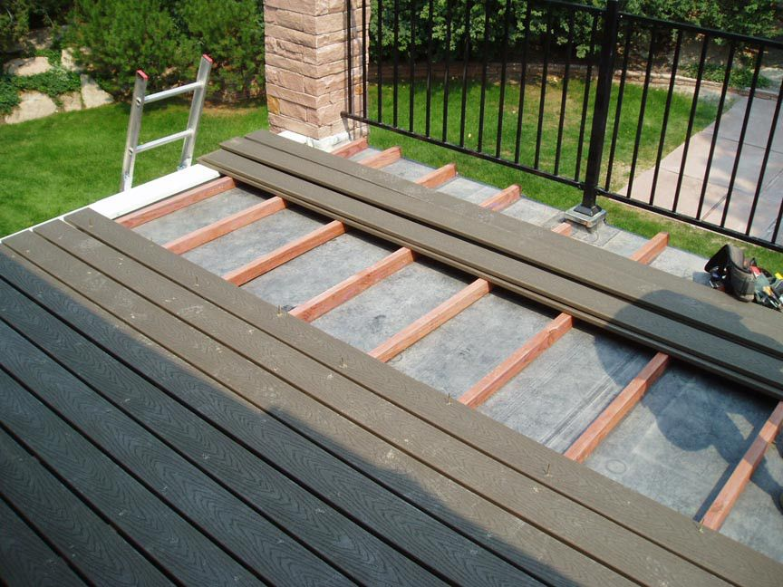Building A Deck On A Flat Roof Building A Deck Flat Roof