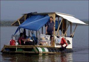 Homemade 55-Gallon Drum Raft :) | House in 2019 | Kayak