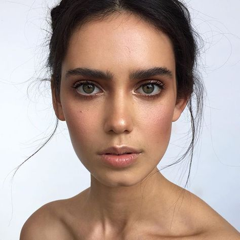 Natural No Makeup Makeup With Bold Brows Shimmer Eyeshadow And Pink Blush Beauty Makeup Natural Makeup Makeup Looks