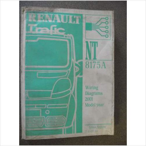 Renault Trafic Wiring Diagrams Manual 2001 Nt8175a