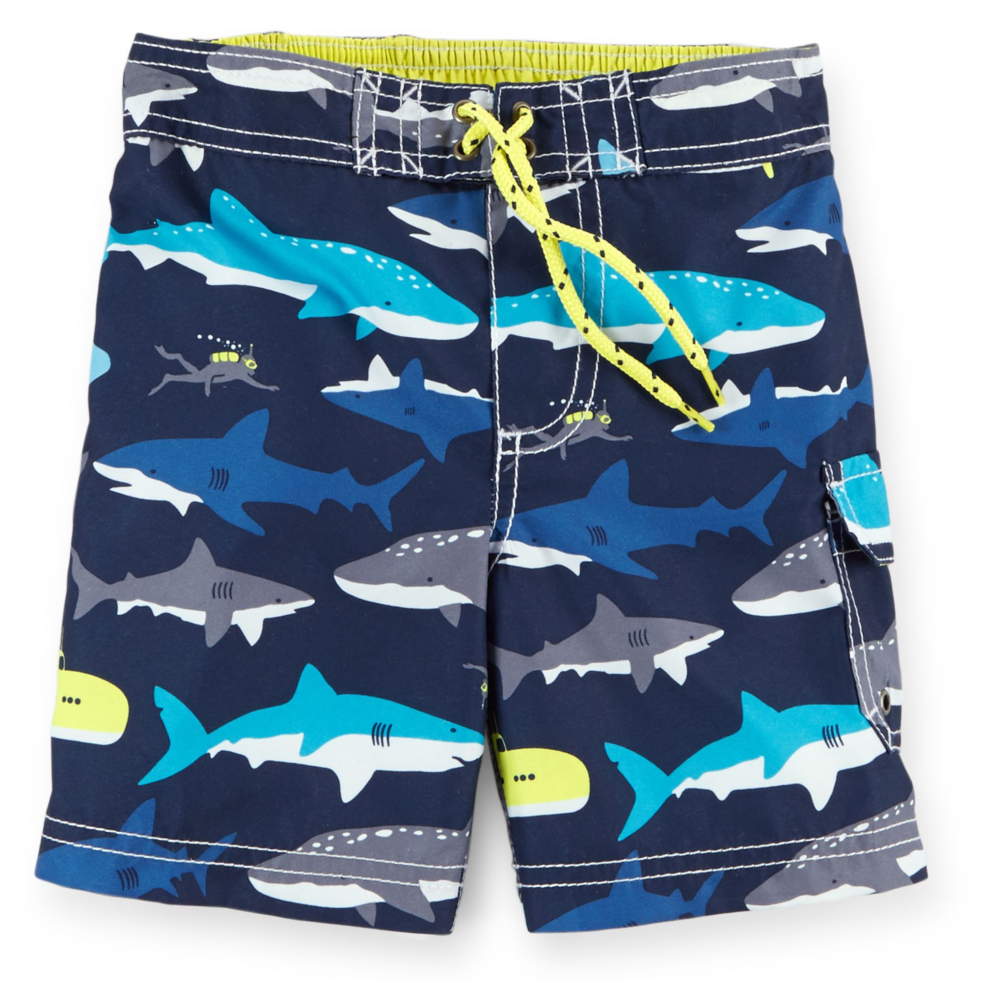 d07c5a3b9ea Shark Print Swim Trunks