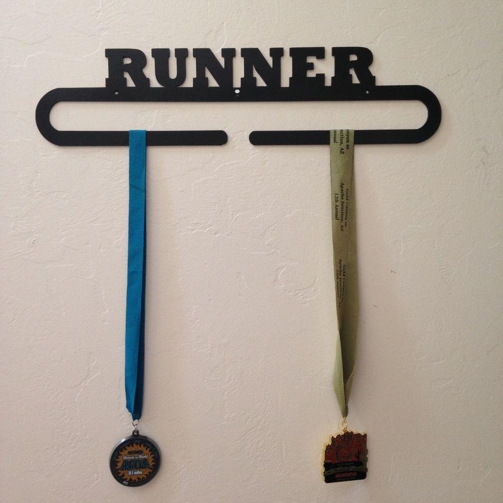Runner Medal Holder Wall Display (marathon, half marathon, 5K, 10K, running)