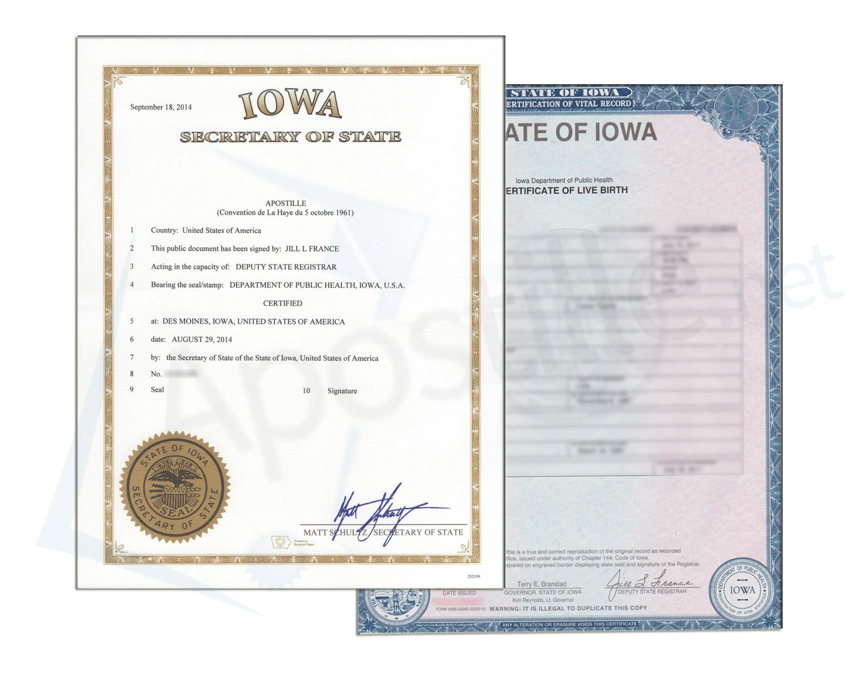 17 Best State Of Iowa Sample Apostille Images On Pinterest
