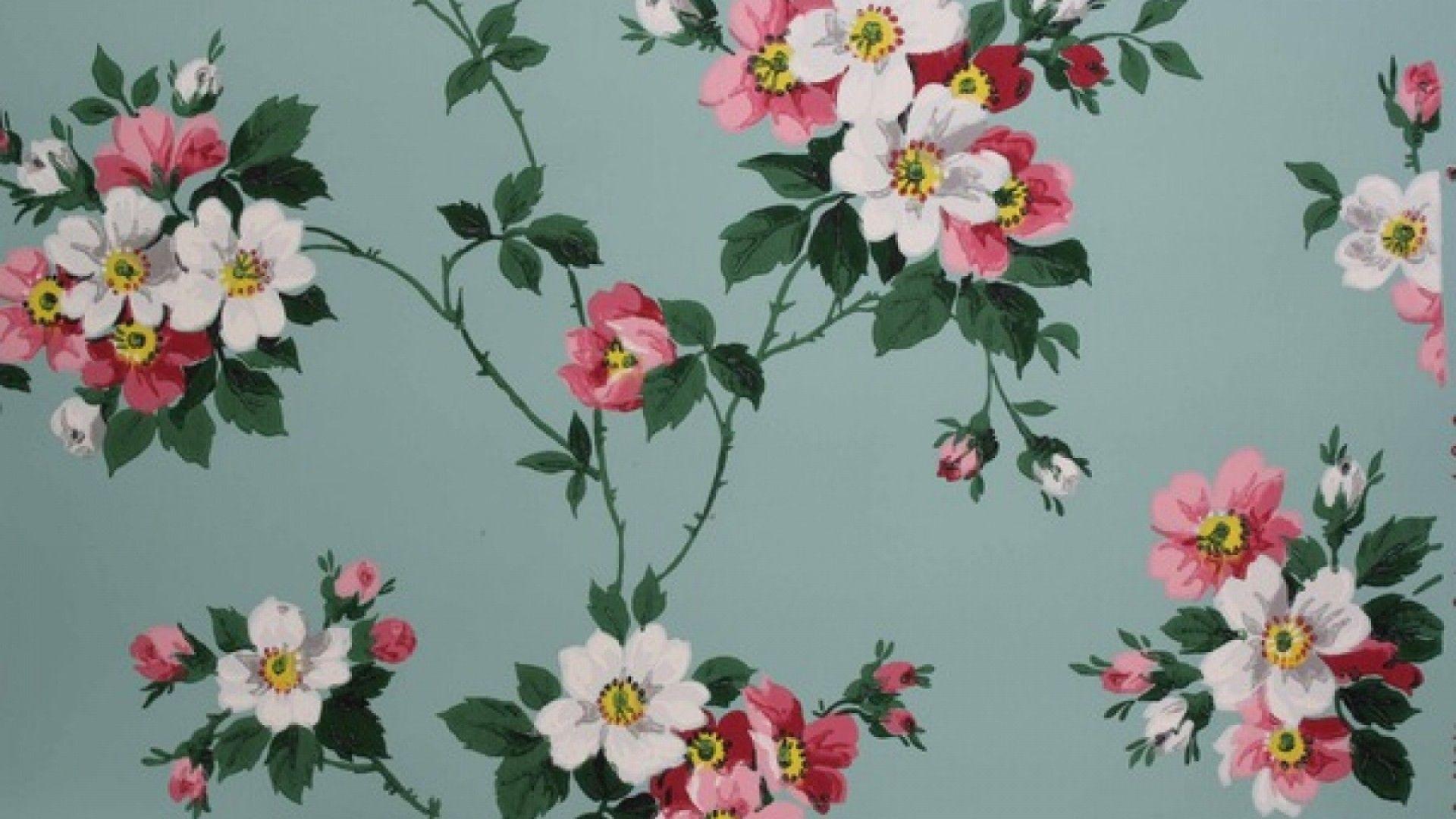 Vintage Flower Wallpaper Desktop