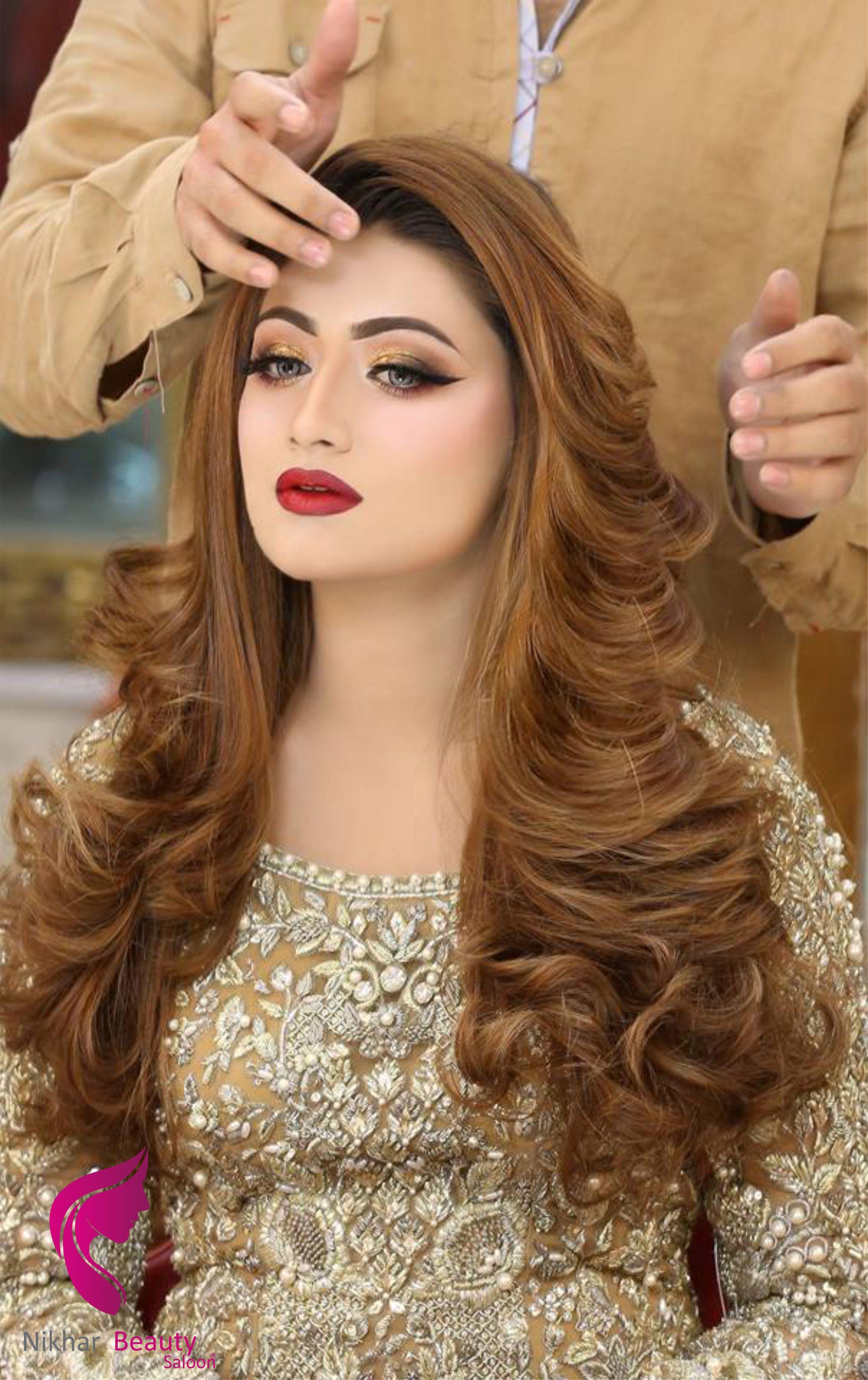 Nikhar Beauty Saloon Pakistani Bridal Hairstyles Bridal Hair Buns Glamorous Wedding Hair
