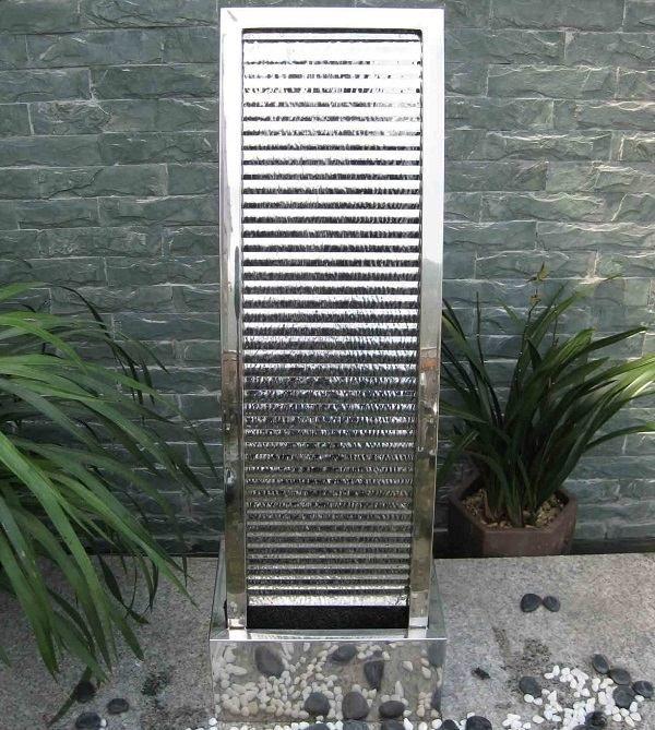 Edelstahl Brunnen Garten Wasserwand Rostfrei Modern