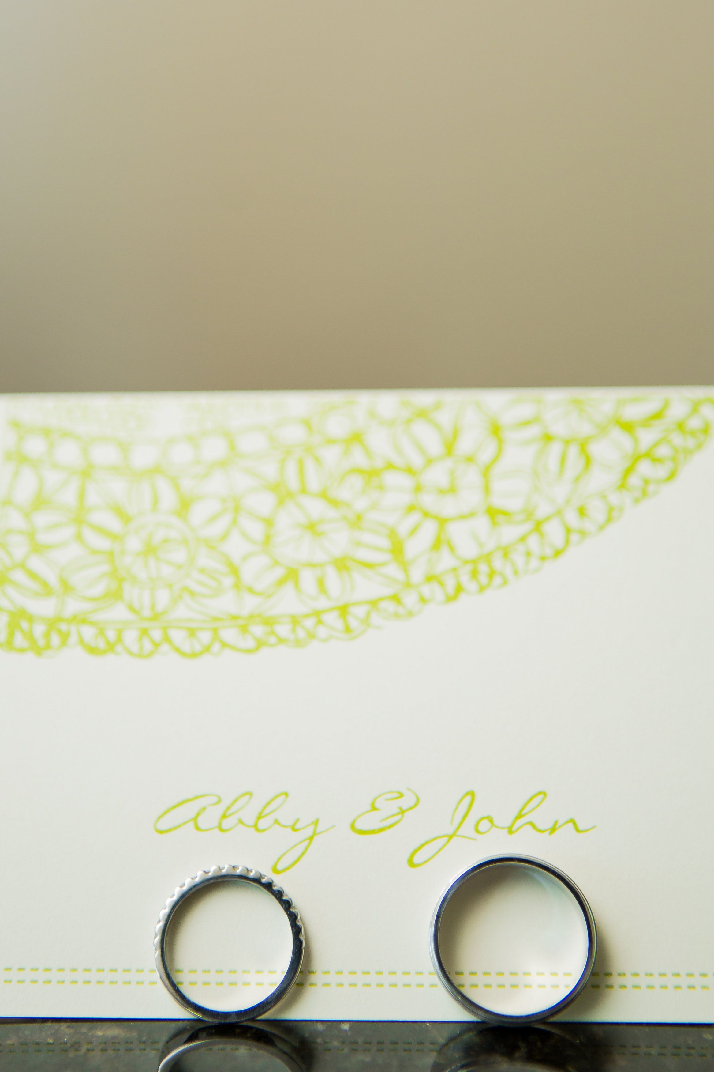 wedding invitation, paper goods, stationary, abby & john, names, wedding bands, wedding photography :: Abby + John's Wedding at 173 Carlyle House in Norcross, GA :: with Tyler