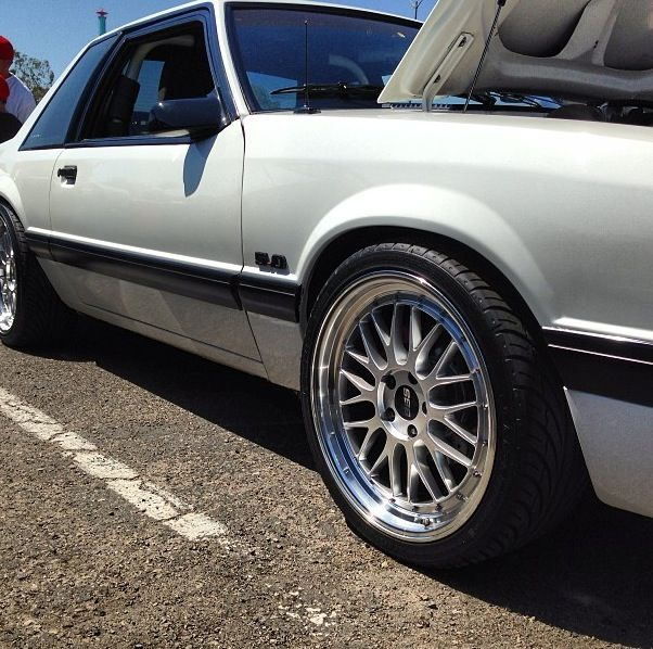 Bbs Wheels On A Foxbody Notch Mustang Love These Wheels Car Wheels Rims Car Wheels Car Wheels Diy